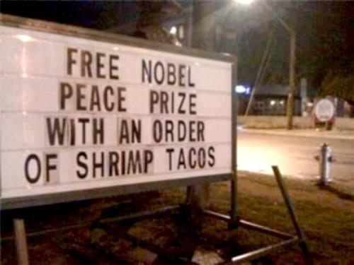 Free Nobel Prize with tacos